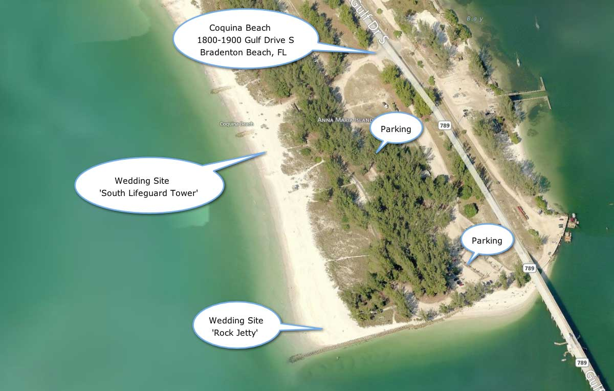 Coquina Key Beach Ami Wedding Site
