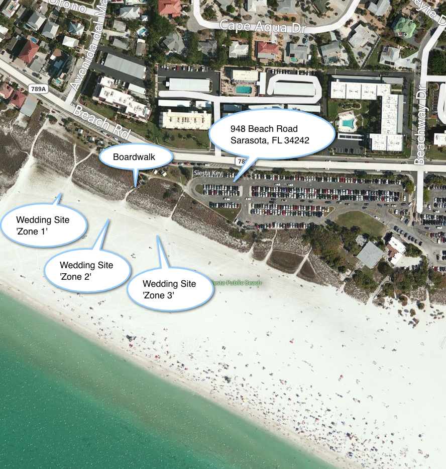 Siesta Key Location Beach Zones