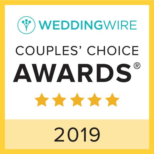 2019 WeddingWire Couples' Choice Award