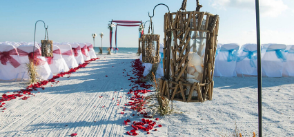 Beach celebrations wedding package tampa